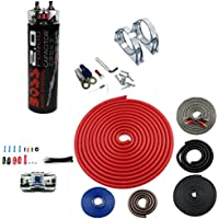New BOSS CPBK2 2.0 FARAD LED Digital Car Audio Capacitor Cap + 4 Gauge Amp Kit