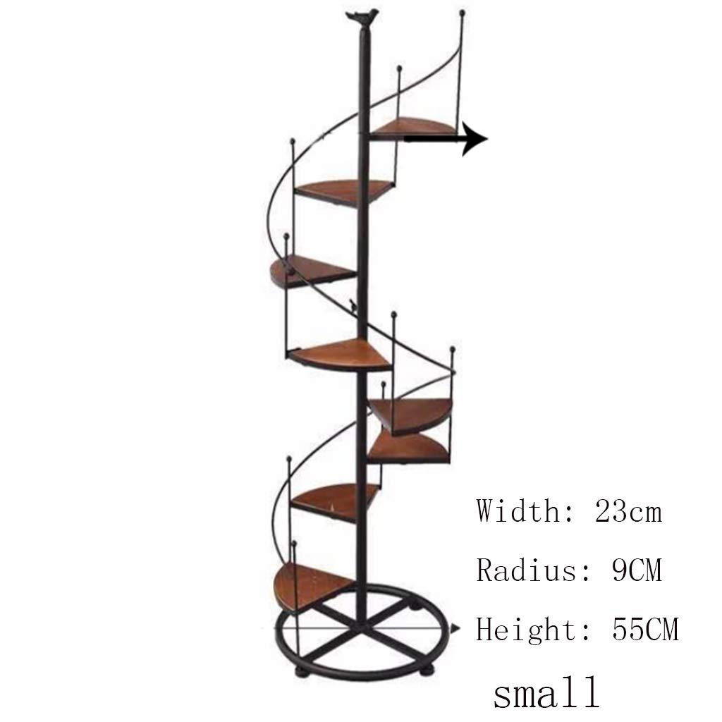 JTWJ Supporto da Pavimento Multistrato in Ferro battuto in Legno massello portavetrini da Balcone (Dimensioni   23  9  55cm)