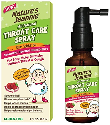 Gargle Away Spray by Nature's Jeannie - Natural Sore Throat Remedy, Vocal Care, Mucus Relief, Cough Suppressant Spray for Kids (Age 3+) and Adults (1 Oz) (Apple Cider Vinegar And Honey Recipe For Cough)