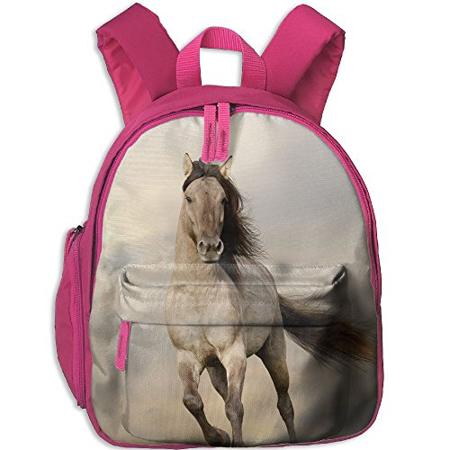 SarahKen Animal Wild Young Stallion Horse Running At Sunset Male Power Nake Muscular Physique Nobility Boys And Girls Shoulders Bag Pink 12.5