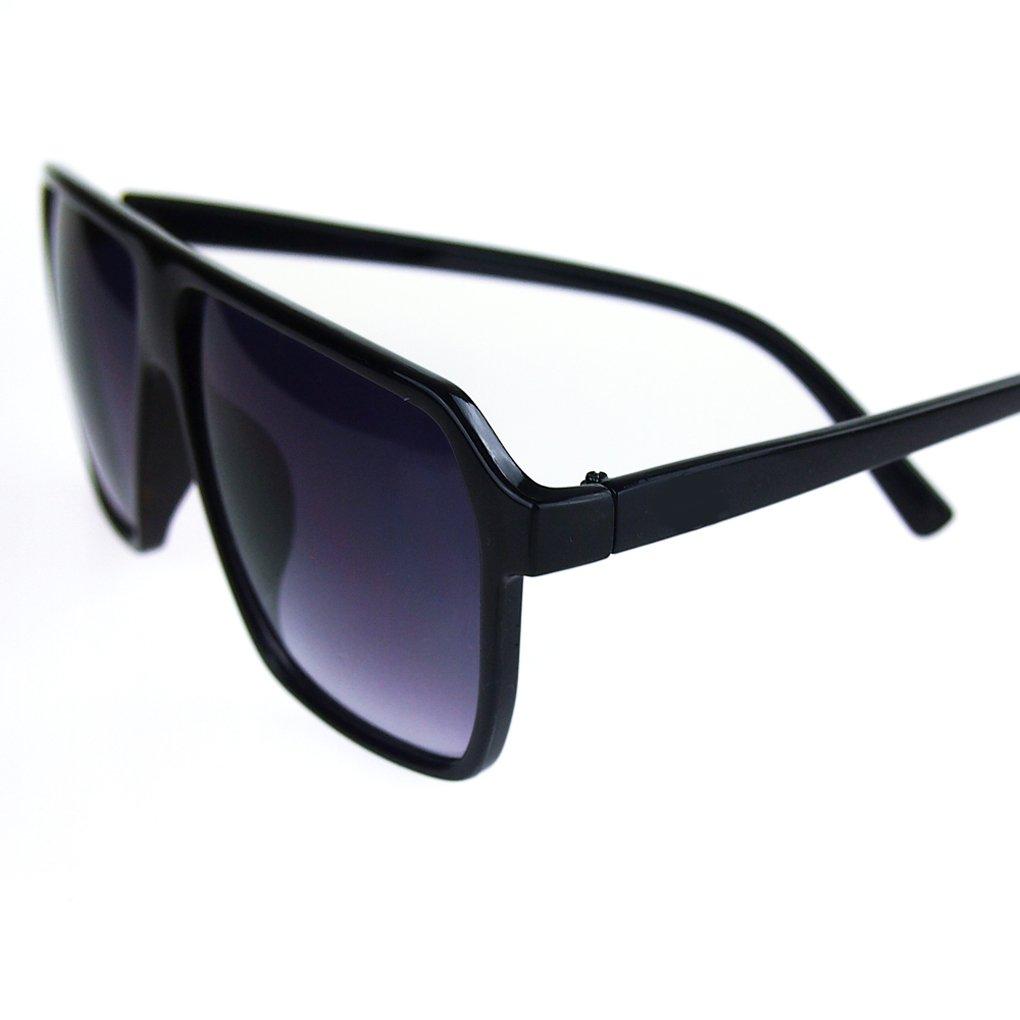 QHGstore Spesso grandi della pagina occhiali da sole occhiali di moda Bianco