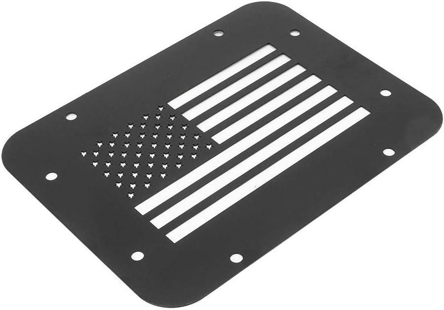 Qii lu Couvercle de plaque d/évent type de drapeau US Couvercle d/évent de hayon pour mod/èles Wrangler JK /à 2 ou 4 portes 07-18