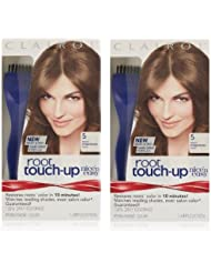 Clairol Nice 'n Easy Root Touch-Up 5 Kit (Pack of 2), Matches Medium Brown Shades of Hair Coloring, Includes Precision Brush Applicator Tool