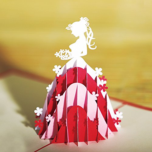 (HUNGER Handmade 3D Pop Up Princess Birthday Cards Creative Greeting Cards Papercraft (Princess))