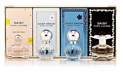 Marc Jacobs 4 Piece Daisy Variety Perfume Mini (0.13 Ounce Mini Perfume)