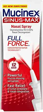 Mucinex Sinus-Max Full Force Nasal Decongestant Spray, 0.75oz