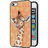 iphone 5 cases customized - iPhone 5S Case, Customized Black Soft Rubber TPU iPhone/Apple 5S Case Giraffe in the dream