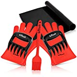 Superior Value Set: Silicone BBQ/Cooking Gloves Plus Grill Mat Plus Meat Claws Plus Silicone Baster Plus eBook w/ 300 Recipes. Impress Your Family and Friends with Your Professional BBQ Kit