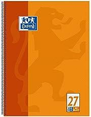 Oxford Collegeblok, A4+, 80 vellen, geperforeerd Gelinieerd 27 - gelinieerd met rand li. & re. 1 Stuk oranje