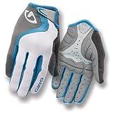 Giro Tessa LF Women's Gloves, White/Blue/Charcoal, Medium