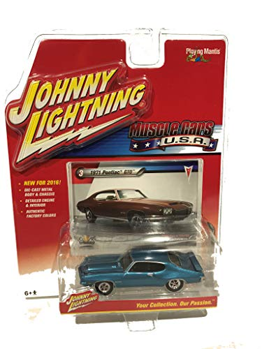Johnny Lightning 1971 Pontiac GTO Blue, 2016 Muscle Cars