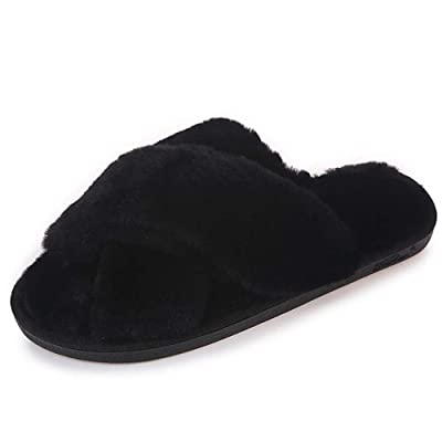 Zardimanfy Women's Slippers Warm Faux Fur House Comfort Shoes Home Indoor | Slippers
