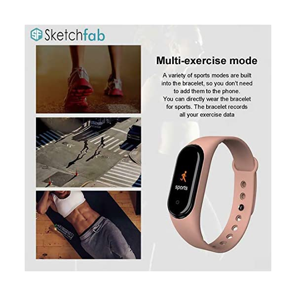 Sketchfab Band Smart Fitness Band Activity Tracker with OLED Display Smart Band Monitor | Smart Health for Men & Women…
