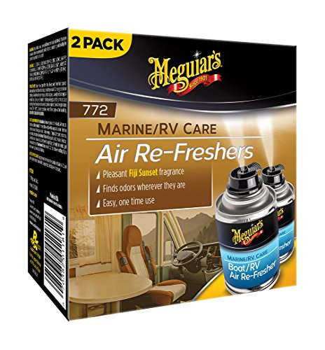 Meguiar's M77200 Pleasant Fiji Sunset 2.5 oz Marine/RV Air Re-Freshers, 2 Pack