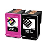 ZOOMTEC Remanufactured Ink Cartridge Replacement for HP 301XL (1 Black,1 Colour)