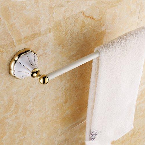 Antique country Towel rack roast white gold white continental bathroom accessories bathroom hardware bathroom Towel Bar 610*90mm