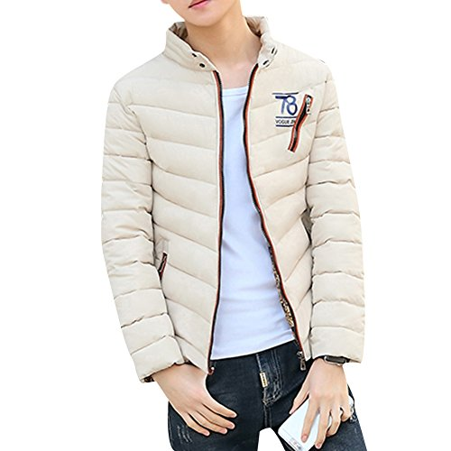 Collar Quilted Outwear Men's Thick Winter Stand ZongSen Warm Coat Khaki Padded Jacket Short HvPIxRwR