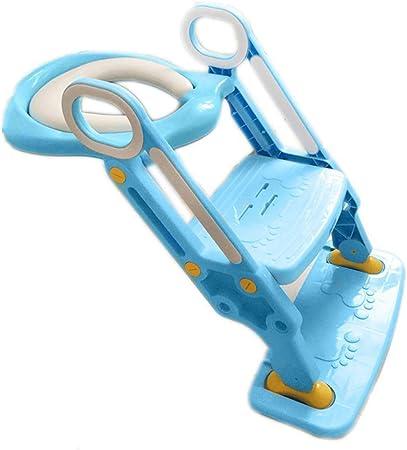 Silla con Orinal para Bebés Inodoros para Niños Escalera para Inodoro Plegable para Hombres Y Mujeres Asiento De Inodoro para Bebé Inodoro Acolchado para Niños Inodoro para Baño (46 * 62Cm): Amazon.es: