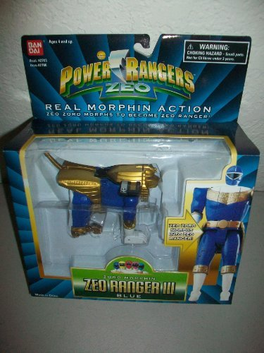 Power Rangers Zeo Bandai 1996 Zeo Ranger III Blue Zord Morphin MISB MIB NEW