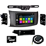 Otto Navi DVD GPS Navigation Multimedia Radio and Dash Kit for Honda Civic 2006-2011 Gunmetal with Back up camera and extra