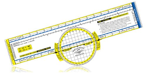 Deluxe Color-coded Rotating Azimuth Navigation Plotter by Aero Products