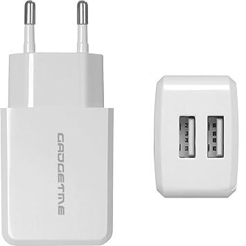 Cargador USB de gadgetme 2.4 A/Adaptador de Corriente - 2 x ...