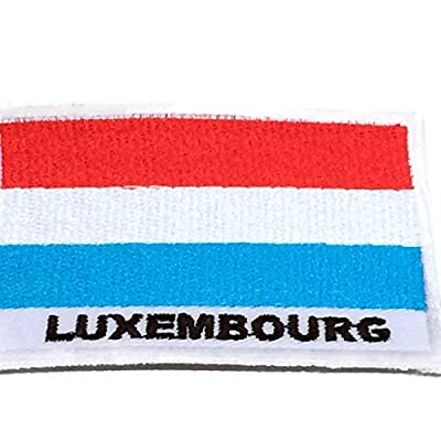 "Nation Country Flag Patch Luxembourg City Emblem Badge Crest 2""x2.8"" Sew On Embroidered National Decorative Applique For shirt Jersey Hat Backpacks"