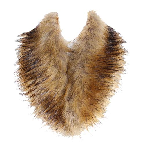 Soul Young Faux Fur Collar Women's Neck Warmer Scarf Wrap,Nature,One Size
