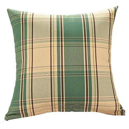 Throw Training Pillow (Stripe Print Fashion Throw Pillow Cases Cafe Sofa Cushion Cover (Green))