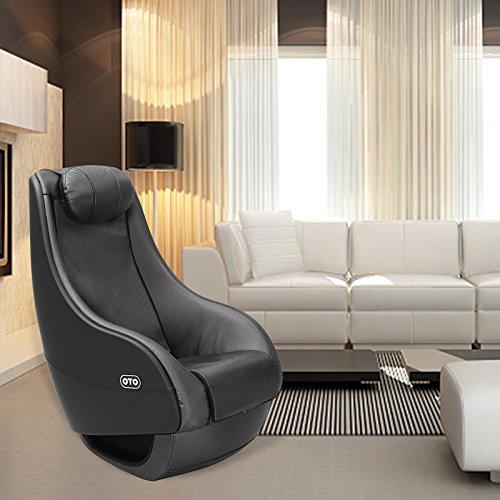 KUPPET Full Body Shiatsu Massage Chair Fully Assembled Deluxe PU Curved Recliner Video Gaming Shiatsu Black