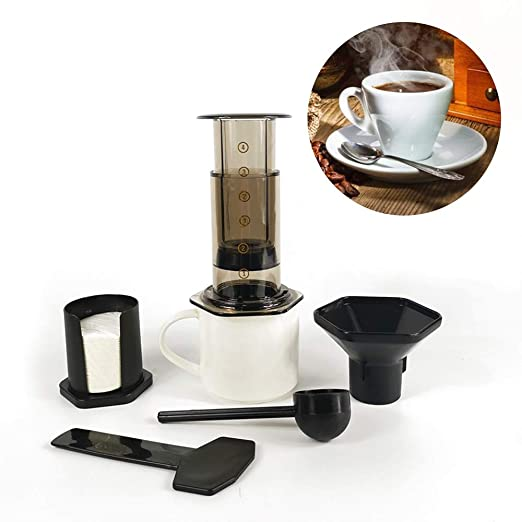 350 ml Nuevo filtro Cristal Café expreso Cafetera portátil Café ...