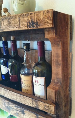 Napa Valley Reclaimed Wood Wine Rack by Great Lakes (Image #4)