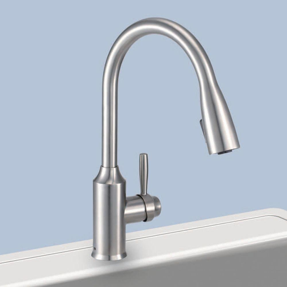 Glacier Bay FP4A4080SS Invee 8 In. Pulldown Kitchen Faucet Stainless ...