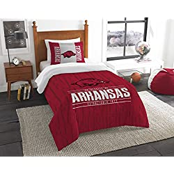 The Northwest Company Officially Licensed NCAA Arkansas Razorbacks Modern Take Twin Comforter and Sham
