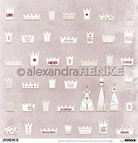 Alexandra Renke Kings ウィンターペーパー付き 12インチ×12インチ