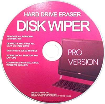 Professional Hard Drive Eraser / Wiper CD Disc Disk 32/64Bit [Windows - Linux - Mac] from Altertech