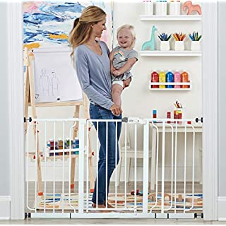 Regalo 56-Inch Extra WideSpan Walk Through Baby Gate, Includes 4-Inch, 8-Inch and 12-Inch Extension, 4 Pack of Pressure Mounts and 4 Pack of Wall Cups and Mounting Kit