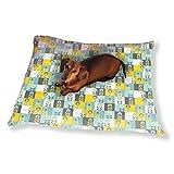Flower Patchwork Dog Pillow Luxury Dog Cat Pet Bed