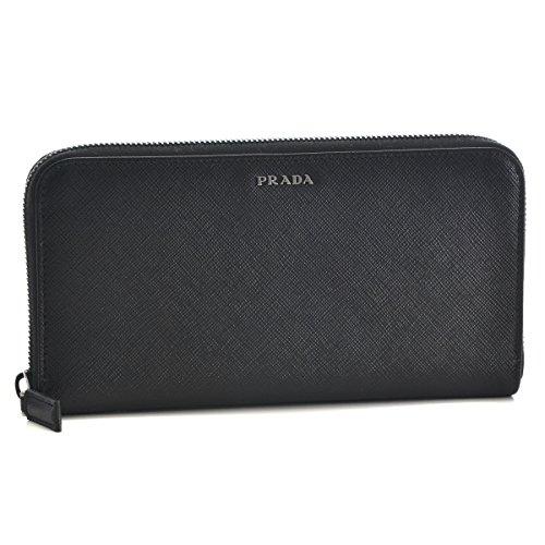 PRADA(プラダ) 財布 メンズ 型押しカーフスキン ラウンドファスナー長財布 ブラック 2ML317-C5S-G52 [並行輸入品] B06XHD5J2Q