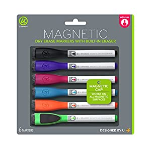 Amazon.com : U Brands Low Odor Magnetic Dry Erase Markers