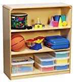 Korners for Kids 272167 Storage Cabinet, All-Birch Veneer Panel, 4-Coat UV Acrylic, 3 Shelf, 39-1/8'' x 14-1/4'' x 36'', Natural Wood Tone