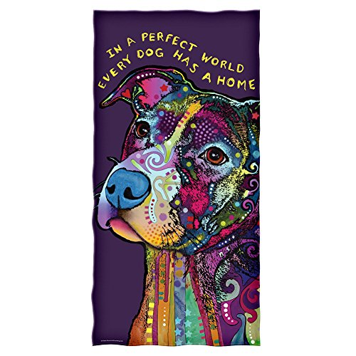 Dean Russo Perfect World Every Dog Has a Home Cotton Beach Towel]()