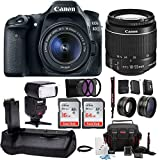 Canon EOS 80D Digital SLR w/ 18-55mm f/3.5-5.6 Lens & TTL Flash & Battery Grip Bundle Review