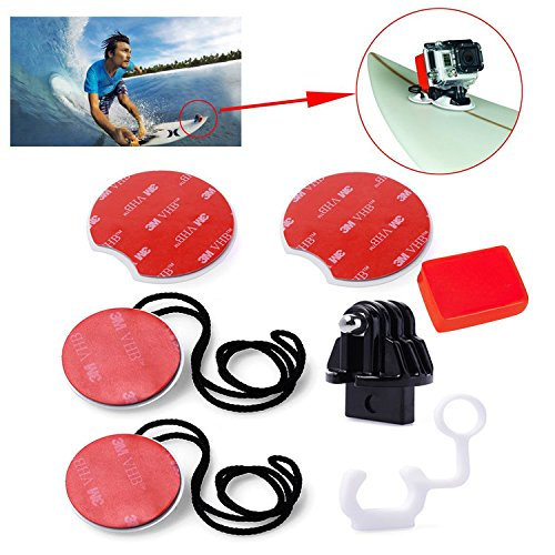 First2savvv GO-CLB-M05 white Bodyboard Surfboard Mount adapter for Swimming Rowing Surfing Skiing Diving Sports fit for GoPro Hero Camera 6 5 4 3 3 2 HERO4 Session sj4000 sj5000 Xiaomi yi