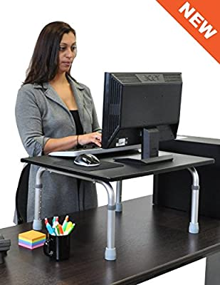 Adjustable Height Standing Desk - Convert your desk to a standing desk