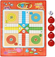 Folding Ludo Game, Traditional Family Games Ludo Board Set for Kids & Adults Indoor