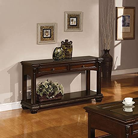 1PerfectChoice Anondale Cherry Sofa Table With Storage Drawers