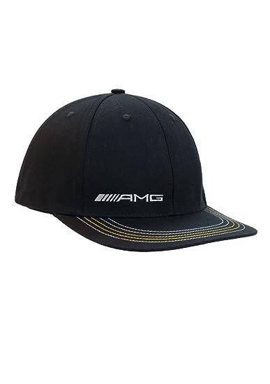 Mercedes Benz Men s AMG Black Stretch Fit Hat (Small Medium) at ... f9e6f71bc7bb