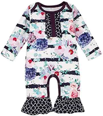 Fulision Newborn Baby boy Girl Winter Warm One-Piece Hooded Romper Jumpsuits