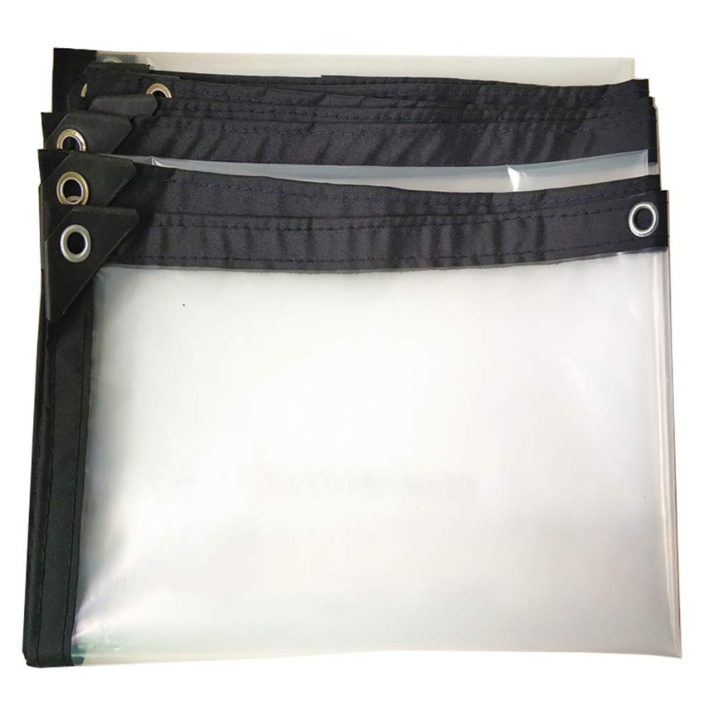 MONFS Home Zelt im Freien Starkes wasserdichtes transparentes wasserdichtes Plane Regentuchzelt (Farbe   A, Größe   3×7m)